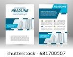 vector flyer template layout... | Shutterstock .eps vector #681700507