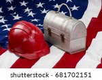 america back to work with red... | Shutterstock . vector #681702151