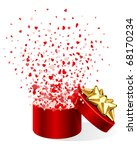 open gift present box with fly... | Shutterstock .eps vector #68170234