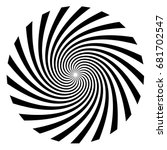 hypnosis spiral  concept for... | Shutterstock .eps vector #681702547
