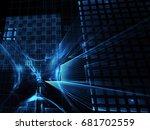 abstract technology...   Shutterstock . vector #681702559