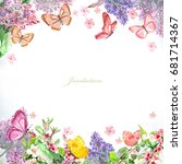 Greeting Card With Blossom...