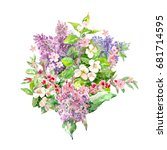 bouquet of spring flowers for... | Shutterstock . vector #681714595