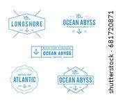 vintage nautical and ocean... | Shutterstock .eps vector #681720871