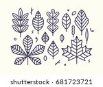 beautiful flat line design... | Shutterstock .eps vector #681723721