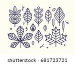 beautiful flat line design... | Shutterstock .eps vector #681723721