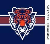 tiger animal mascot head vector ...   Shutterstock .eps vector #681725197