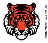 tiger animal mascot head vector ... | Shutterstock .eps vector #681725209