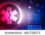 2d illustration medicine... | Shutterstock . vector #681728371