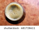 stout in teku glass. | Shutterstock . vector #681728611