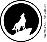 the vector logo wolf for t... | Shutterstock .eps vector #681730084