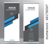 blue roll up business brochure... | Shutterstock .eps vector #681730267