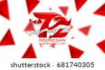 72 years logo of indonesian... | Shutterstock .eps vector #681740305