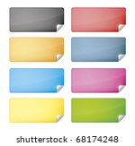eight labels with different... | Shutterstock .eps vector #68174248