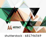 triangular low poly vector a4... | Shutterstock .eps vector #681746569