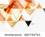 triangular low poly vector a4... | Shutterstock .eps vector #681746761