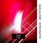 shiny glittering vector...   Shutterstock .eps vector #681747244
