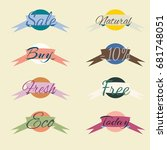 sale stickers  online shopping. ...   Shutterstock .eps vector #681748051