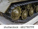 Tank Tracks Closeup. The Photo...