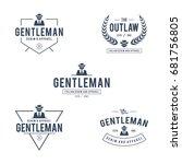 vintage gentleman badge and... | Shutterstock .eps vector #681756805