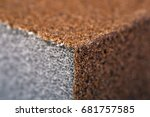 Small photo of Sandpaper / Abrasive Sponge. Close-Up. Macro. Texture, Background Series