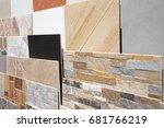 various ceramic tiles samples | Shutterstock . vector #681766219
