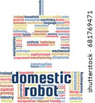 domestic robot word cloud text... | Shutterstock .eps vector #681769471