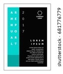 brochure annual report flat... | Shutterstock .eps vector #681776779