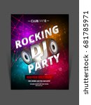 party flyer. club music flyer.... | Shutterstock .eps vector #681785971