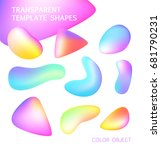 transparent set template shapes.... | Shutterstock .eps vector #681790231