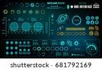 futuristic virtual graphic... | Shutterstock .eps vector #681792169