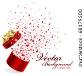 open red gift present as heart... | Shutterstock .eps vector #68179300