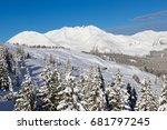 winter in alps  kaltenbach ski... | Shutterstock . vector #681797245