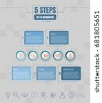 five options or steps... | Shutterstock .eps vector #681805651