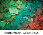 multicolor  bstract broken... | Shutterstock . vector #681810565