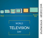 world television day  21... | Shutterstock .eps vector #681811144
