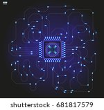 abstract hud elements the blue... | Shutterstock .eps vector #681817579