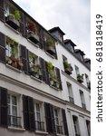 Small photo of façade, Paris, Montmartre