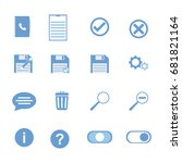 user interface icons  trash box ...