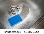 cleaning kitchen sink. how to... | Shutterstock . vector #681822655