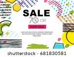vector sale banner  poster... | Shutterstock .eps vector #681830581