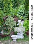 Cherub Garden Statue Open Sign