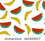 tropic seamless pattern with... | Shutterstock .eps vector #681844027