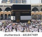 mecca  saudi arabia  september... | Shutterstock . vector #681847489