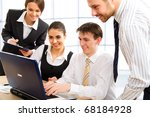 business team at a meeting in a ... | Shutterstock . vector #68184928