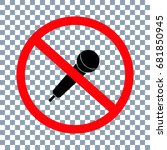 no voice icon on transparent... | Shutterstock .eps vector #681850945
