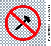 no hammer on transparent... | Shutterstock .eps vector #681850951