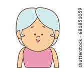 portrait woman female cartoon... | Shutterstock .eps vector #681851059