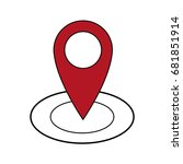 pointer map location navigation ... | Shutterstock .eps vector #681851914