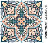 india paisley pattern ... | Shutterstock .eps vector #681851941